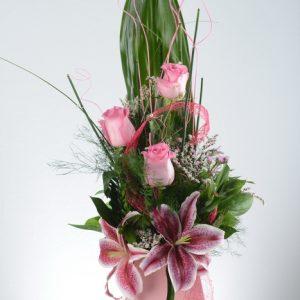 buket ljiljan i ruže, isporuka cveca